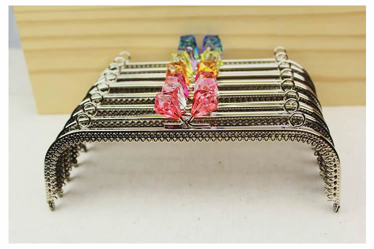 10pieces/lot ,20cm silver frame, Semi-square shape Metal Purse Frame Handle for Bag Sewing Craft,Coin Purse Frames(China (Mainland))
