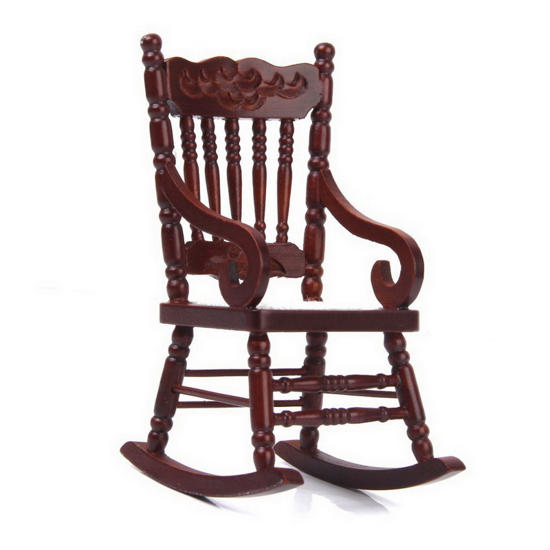 Wooden Model Rocking Chair Model Brown Free Shipping-in Furniture ...