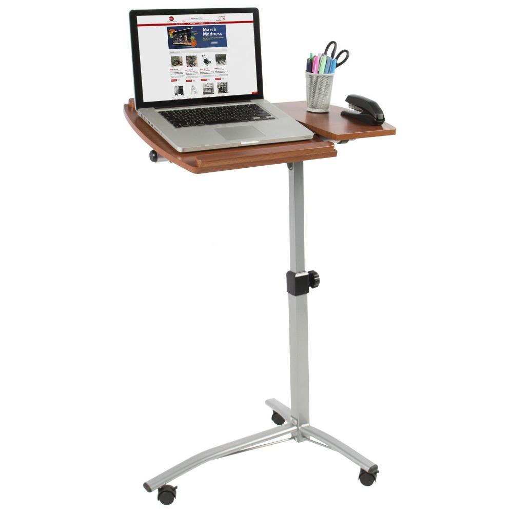 Laptop bureau instelbare hoek en hoogte rollende kar ziekenhuis boven het bed tafel staan df9420 - Bed tafel ...