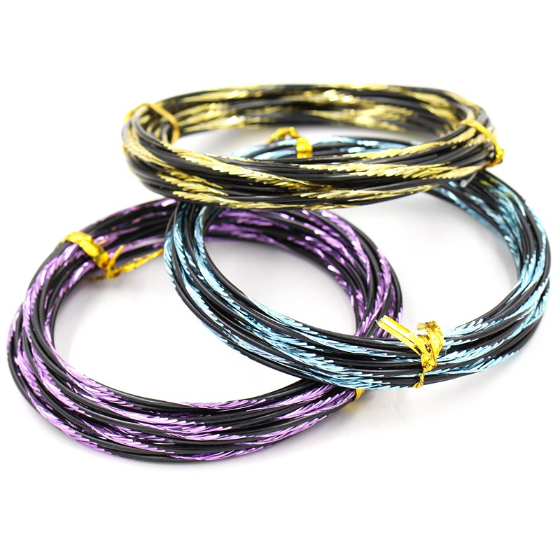 2mm Diameter 5m/roll Engraved Aquatic pattern soft aluminum wire for Metal Crafts(China (Mainland))