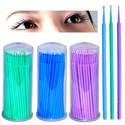100pcs 2.0mm Portable Travel Soft Cotton Makeup Cosmetic Remover Disposable Medical Cure Health Beauty Swabs Buds Balls