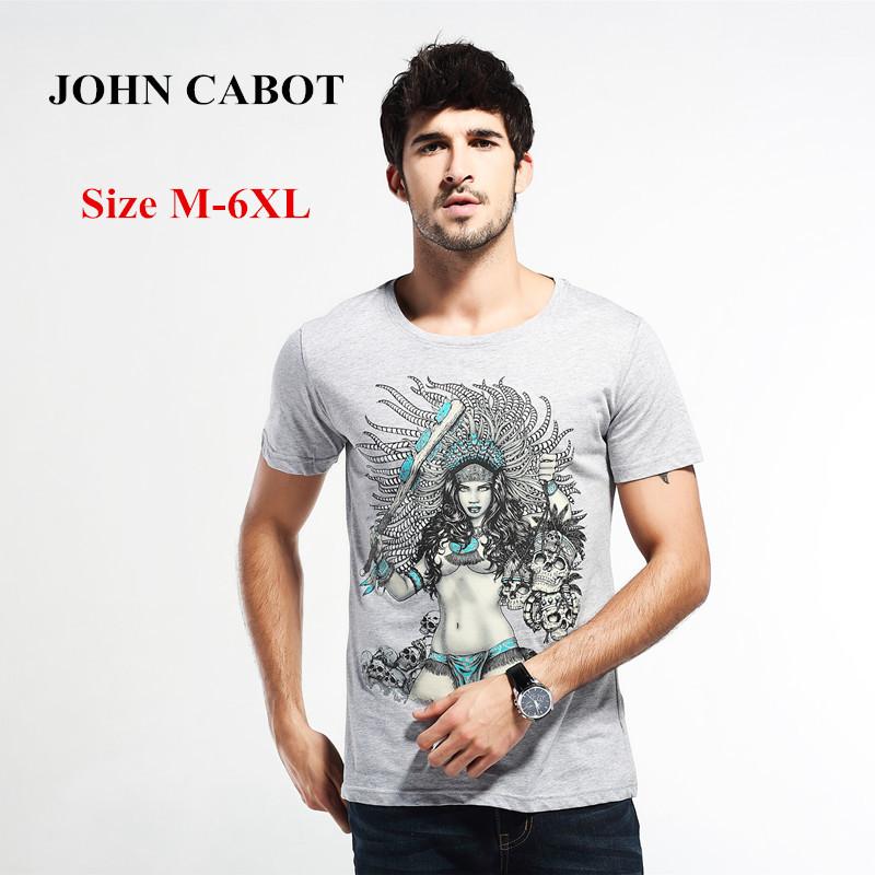 Мужская футболка JOHN CABOT tshirt m/6xl camisa masculina