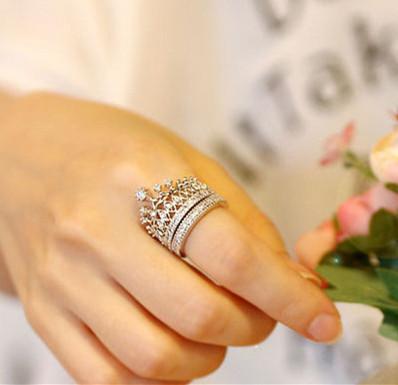 2 шт./компл. кристалл горного хрусталя императорская корона круг обручальные кольца для женщин engaement кольцо сапфир ювелирные изделия