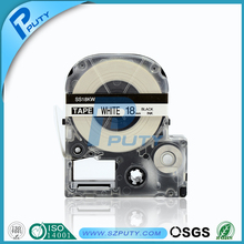Hot sale EPSON 18mm label tape LC-5WBN black on white compatible labelworks/tepra printer