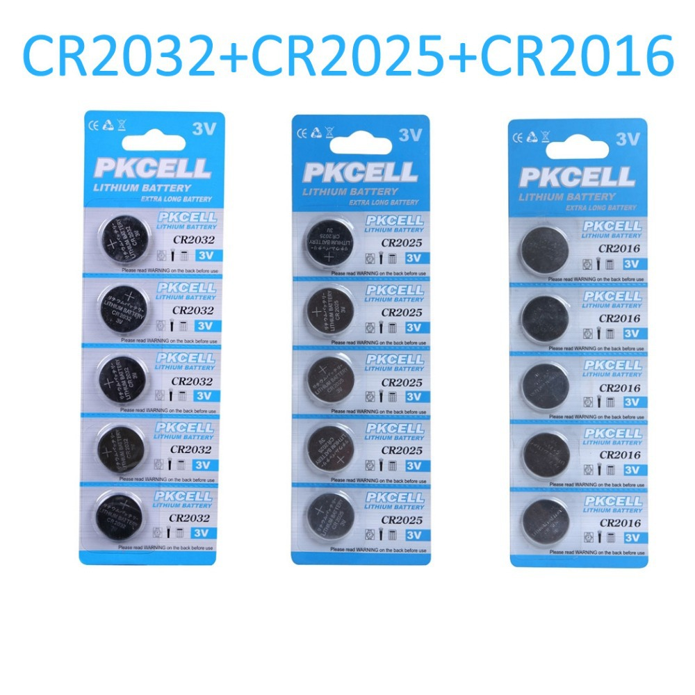 5Pcs/card CR2032 3V/210mAh & 5Pcs/card CR2025 150mah & 5Pcs/card CR2016 75mah Lithium Button Coin Battery for watches,toys etc(China (Mainland))