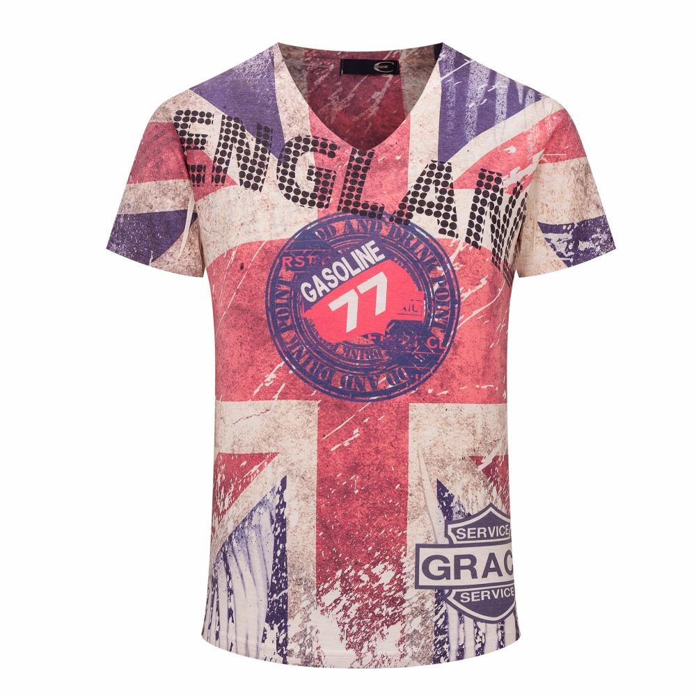 Top Quality New Vintage 3d Print Men T Shirts Brand