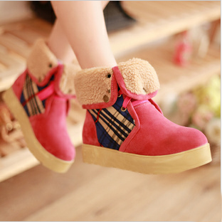 2014 spring and autumn boots fashion platform snow boots martin boots medium-leg boots plus size boots