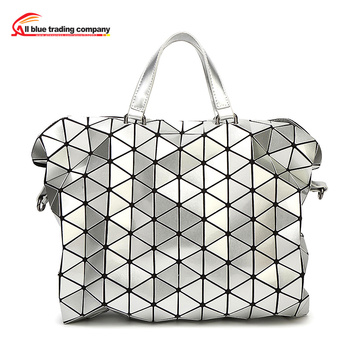 2016 New 9colors Women Fashion BAOBAO Bag Geometry Package Sequins Saser Plain Folding Handbags briefcase Shoulder Bag With Logo