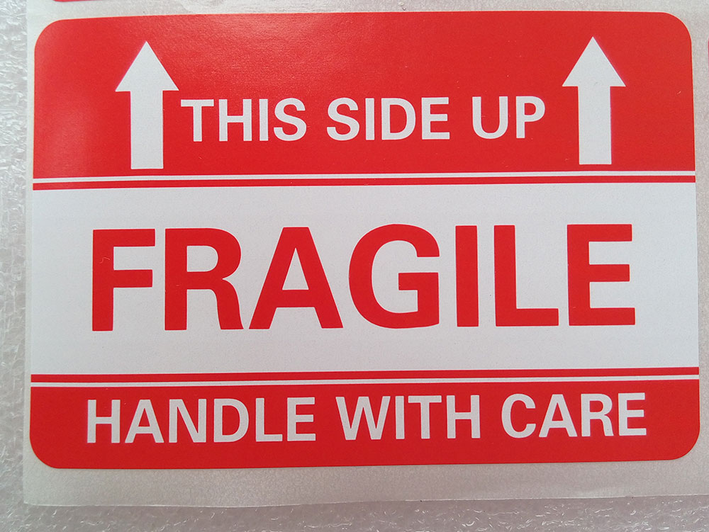 100 2x3 FRAGILE This Side up Handle with Care Stickers ...