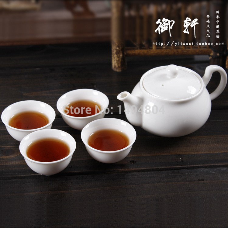 Chinese Yixing Teapot Bone China Tea pot 5 peices 1 Teapot 4 Tea Cups Tea sets