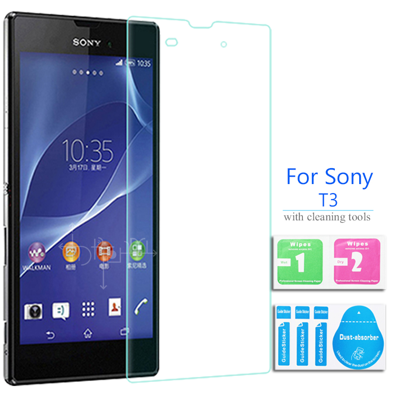 """For Sony Xperia T3 Tempered Glass Screen Protector 2.5 9h Safety Protective Film on Hspa D5102 D5103 D5106 phone 5.3""""(China (Mainland))"""