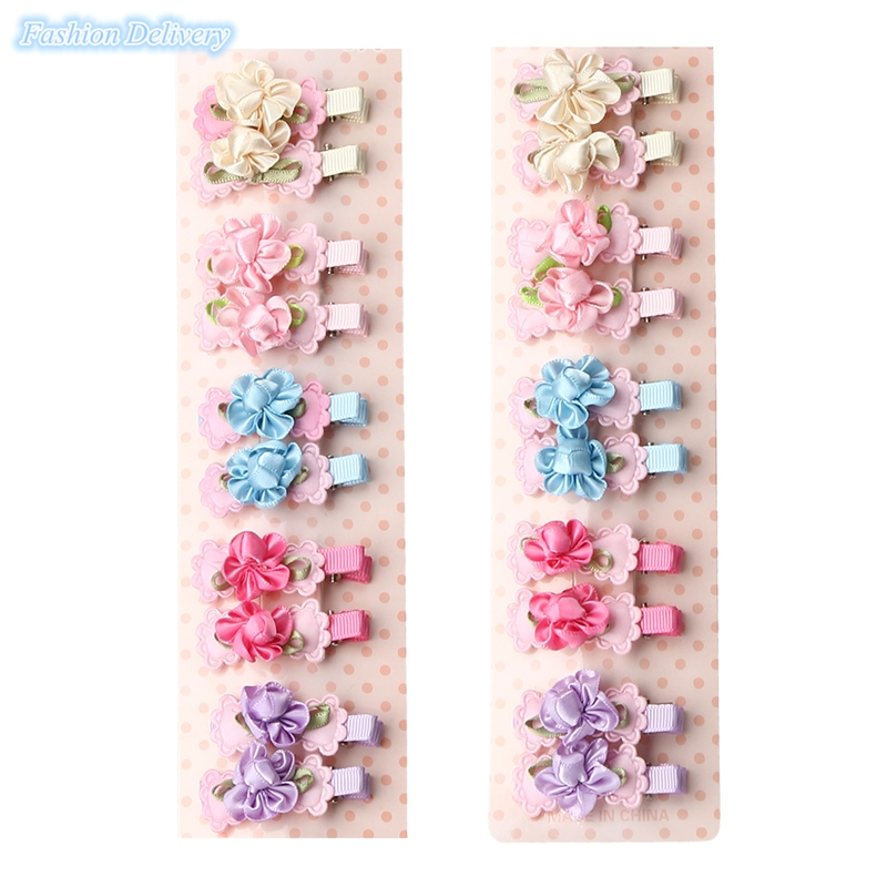20pcs/lot Kids Cute Bow Tie Lace Floral Hairpins Hair Clips Girls Hair Decorations Fashion Trinkets Barrettes(China (Mainland))