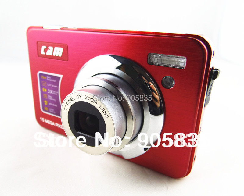 Camera photos 15MP optical zoom camera 3XOptical zoom 2.7''Screen Lithium rechargable battery Full HDMI video function(CDOK2)