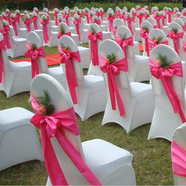 Sash Bow Bands Chair Cover