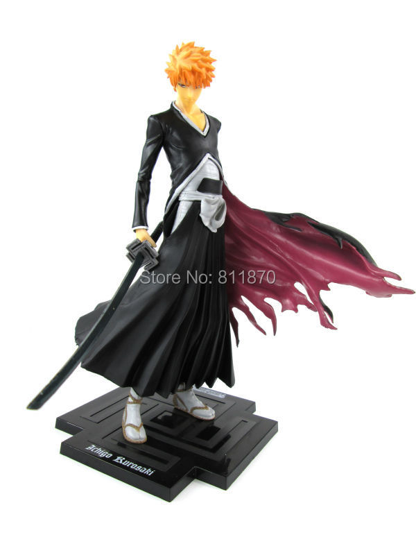 2015 New Free Shipping Anime Bleach Cosplay Kurosaki Ichigo Latest Style Action Figure PVC 20cm(7.9'') 1/8 Scale Toys Hot Sale(China (Mainland))