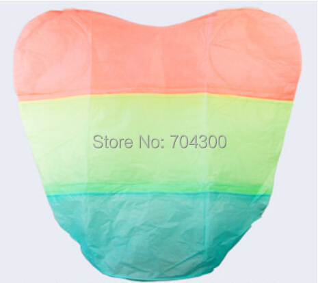Fashion Hot Rainbow Heart-shaped Paper Flying Chinese Lantern Kongming Light Floating(China (Mainland))