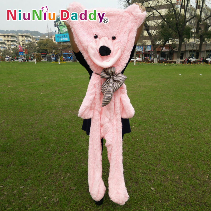 "Niuniu Daddy 180cm/71"" inch,Semi-finished bear, Bear Skin,plush teddy bear skin,plush toys,3 color can choose,Free Shipping(China (Mainland))"