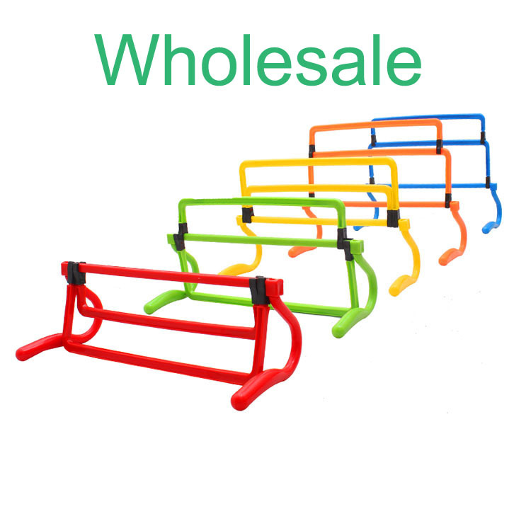 Wholesale Factory export Soccer training hurdle football practise barrier adjustable 4 height hurdles shrink fold equipment set(China (Mainland))