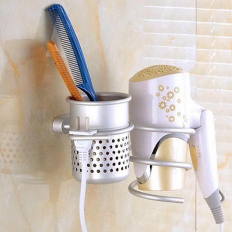 Aluminum Wall Mounted Hair Dryer Drier Comb Holder Rack Stand Set Storage Organizer Bathroom beautician Worldwide Store(China (Mainland))