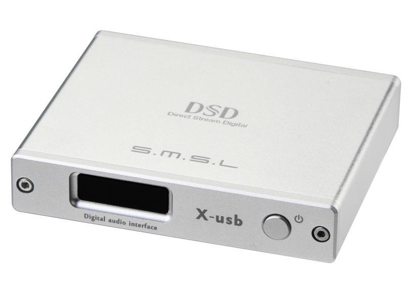 2015 SMSL X-USB XMOS USB to Spdif Converter DAC/Support 384KHZ DSD64/DSD128 IIS silver color(China (Mainland))