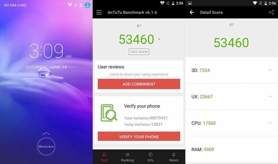 Original Blackview R7 Mobile Phone 4G LTE Android 6.0 5.5 inch MT6755 P10 64bit Octa Core Cellphone Smartphone Fingerprint ID
