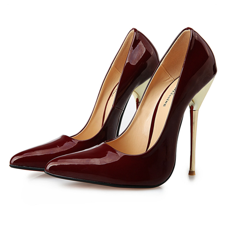 Wide Size 40 to 49 Women Pumps Sexy Red Bottom Pointed Toe High ...