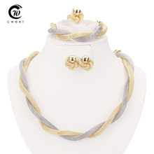 New Products Exaggerated Big Choker Vintage Chunky Statement Chain Necklace Bracelet Earrings Ring Jewelry Sets Accessories(China (Mainland))