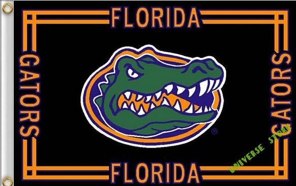free shipping 3X5FT NCAA Florida State University Gator Flag Banner 100D Polyester flag(China (Mainland))