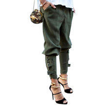 Preself fall Casual Plus size women ArmyGreen pant woman design fashion high quality celeb unique Leisure Trousers harem pants(China (Mainland))