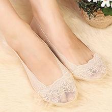Verão mulheres meninas de algodão antiderrapante invisível No Show Low Cut meias barco chinelos antiderrapante meias