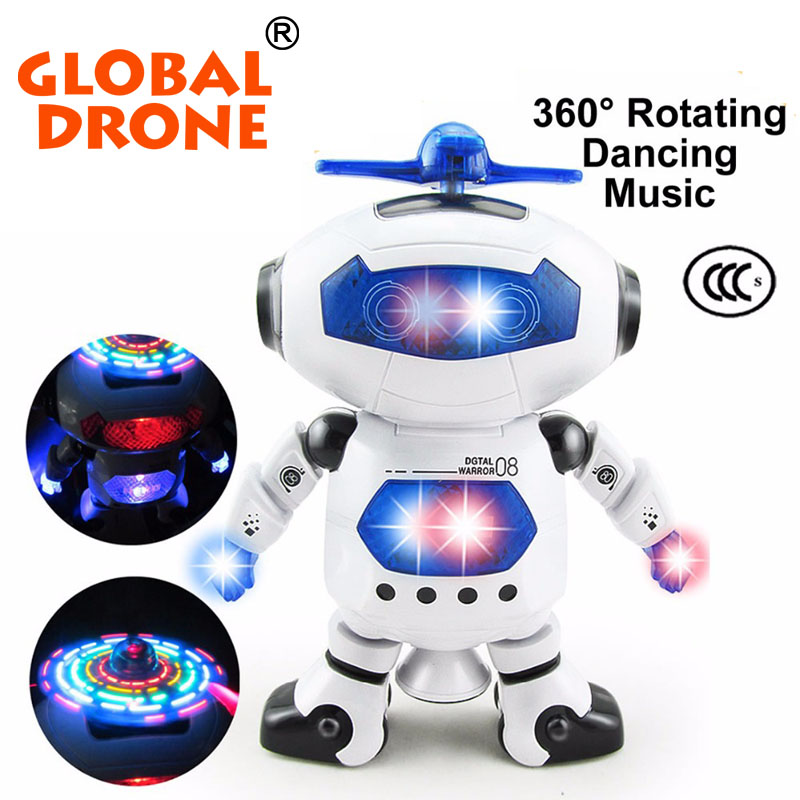 Global Drone Stunt Kidrobot Superhero Dance Electric Robot With Light Music Musical Toys For Children Infant Adult Action Figure(China (Mainland))