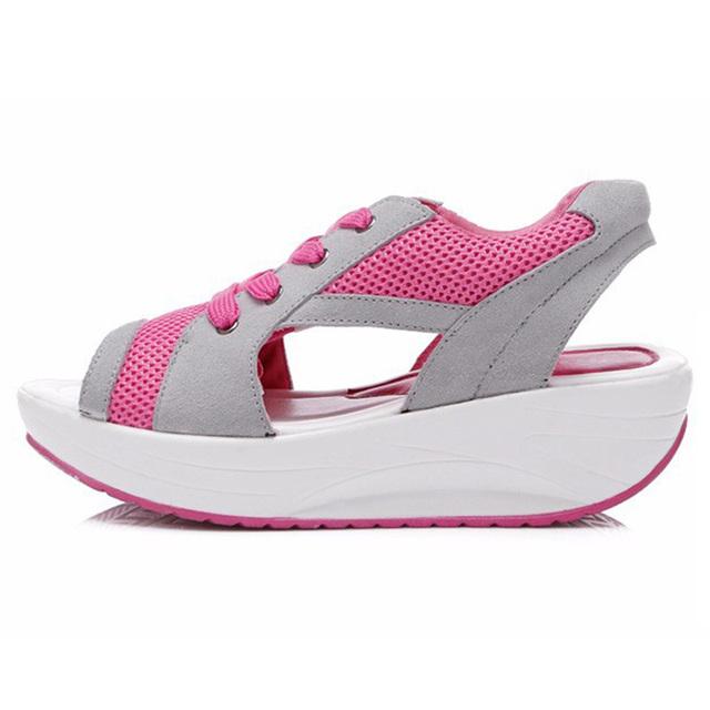 Новый 2016 мода женские сандалии высота увеличение женщины летняя обувь милый свободного ...