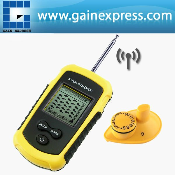 Portable dot matrix wireless sonar sensor lucky fish for Lucky fish finder
