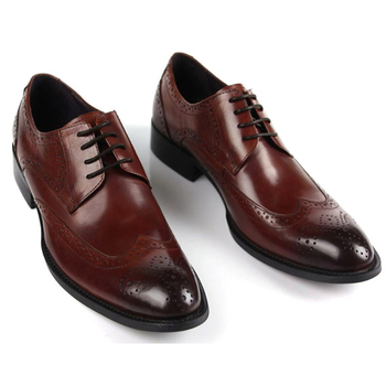 Cutout carved fashion luxury fashion european version of the male formal leather commercial pointed toe leather cowhide