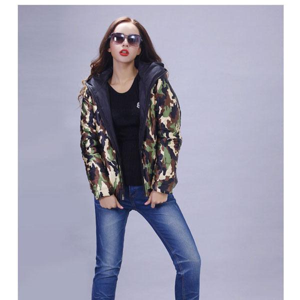 Women Camouflage Jacket Women Winter Jackets With Hat Women Spring Brand Designer Jackets 2015(China (Mainland))