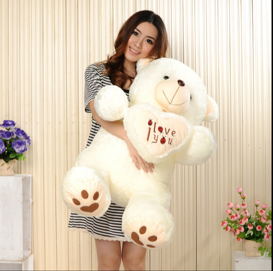 90CM Giant Huge Big Soft Plush White Teddy Bear Halloween Christmas Gift Valentine's Day Gifts(China (Mainland))