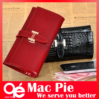 Free shipping hot sale high quality PU leather wallet for women wallets long style lady coin crocodile purse(China (Mainland))