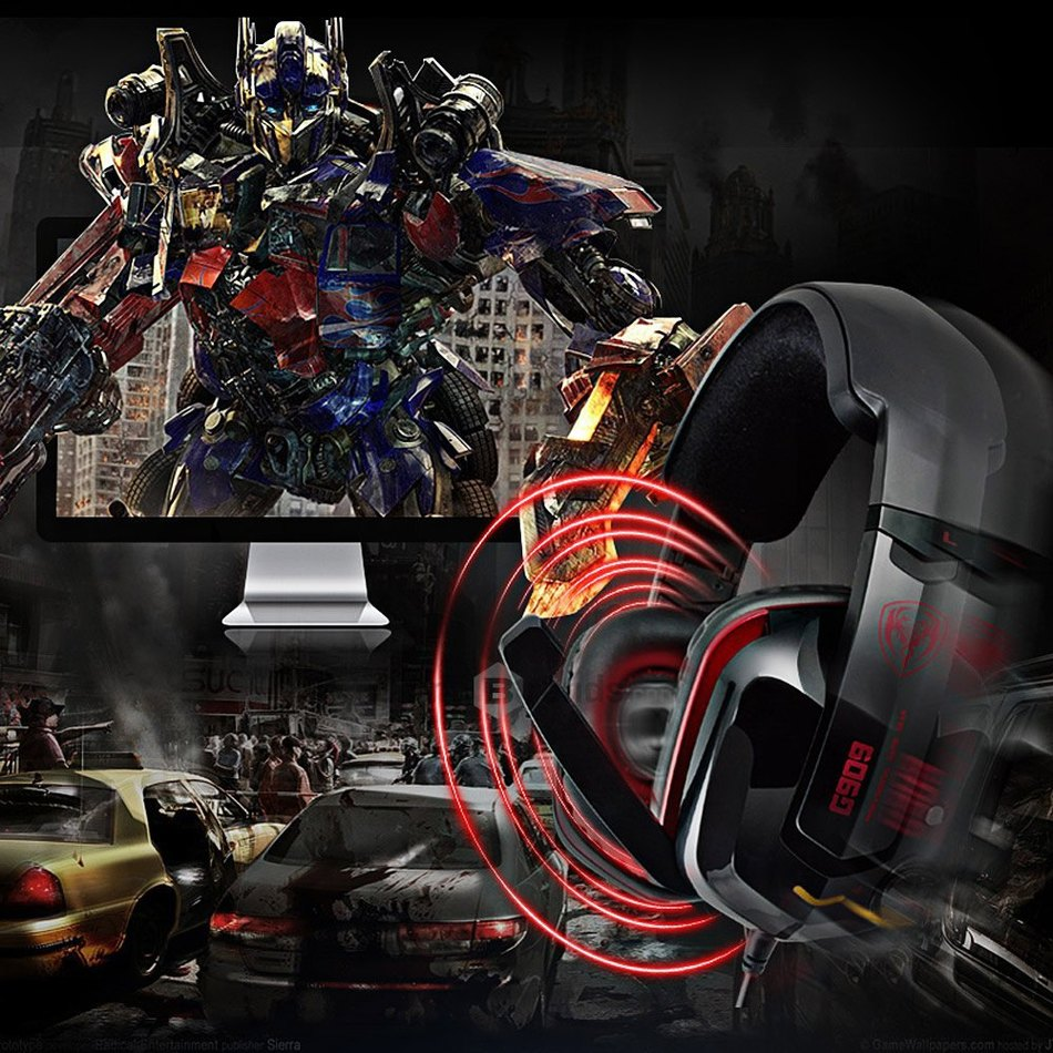 2016 New Somic G909 7.1 Virtual Surround Sound USB Gaming Headset with Vibrating Function Mic Voice Control Free shipping(China (Mainland))