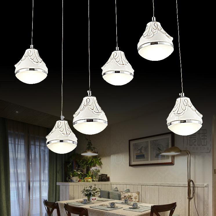 Здесь можно купить  2015 Modern Crystal pendant lamp table lamp lighting restaurant decoration led light three head mini pendant lights for bedroom  Свет и освещение