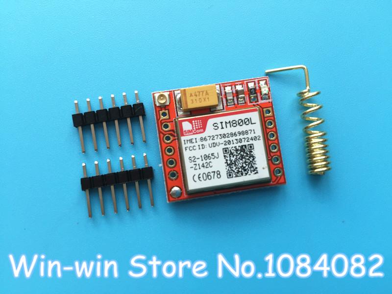 10pcs/lot Smallest SIM800L GPRS GSM Module MicroSIM Card Core BOard Quad-band TTL Serial Port(China (Mainland))