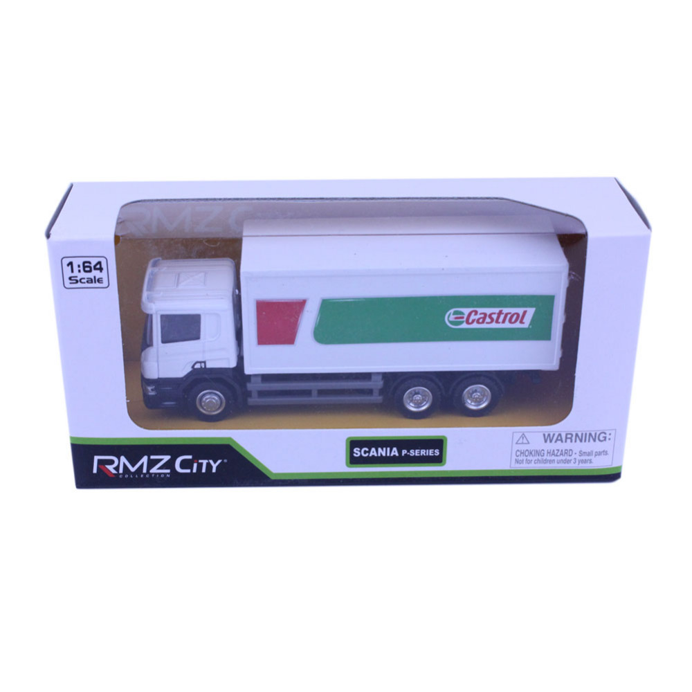 1pc High Quality RMZ City SCANIA Container Truck Castrol 144002B 1/64 Diecast Vehicles Model Car Toys Friend Children Gift(China (Mainland))