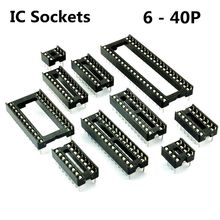 Buy 65pcs/LOT DIP IC Sockets Adaptor Solder Type Socket 6,8,14,16,18,20,24,24wide,28,40 pins Free for $5.65 in AliExpress store