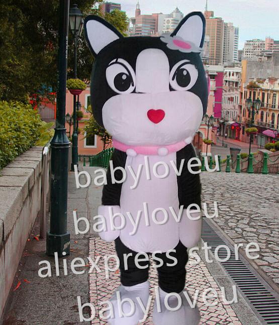 New female cat Mascot Costume custom fancy black cat costume anime cosplay kits mascotte theme fancy dress carnival costume(China (Mainland))