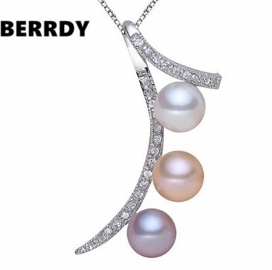 REAL PEARL Freshwater Fashion Freshwater Pearl Pendant with Necklace Chain Unique Designed Hot Gift(China (Mainland))