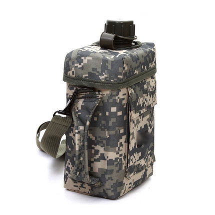 Outdoor hiking sporting 2L large capacity PVC water bottle military kettle/military canteen camping kettle(China (Mainland))