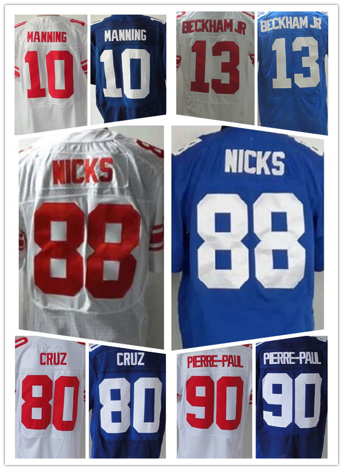 Cheap 10 Eli Manning American football jersey,Elite 13 Odell Beckham Men's Jr 90 Jason Pierre-Paul jersey,Good quatily(China (Mainland))