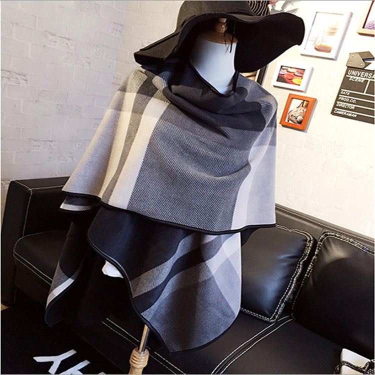Christmas gift 2016 Winter Cashmere scarf women font b Tartan b font Double Side Blanket Scarf
