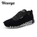 Weweya 2017 New Men Shoes Summer Mesh Flat Shoes Men Lace up zapatillas hombre Plus Size