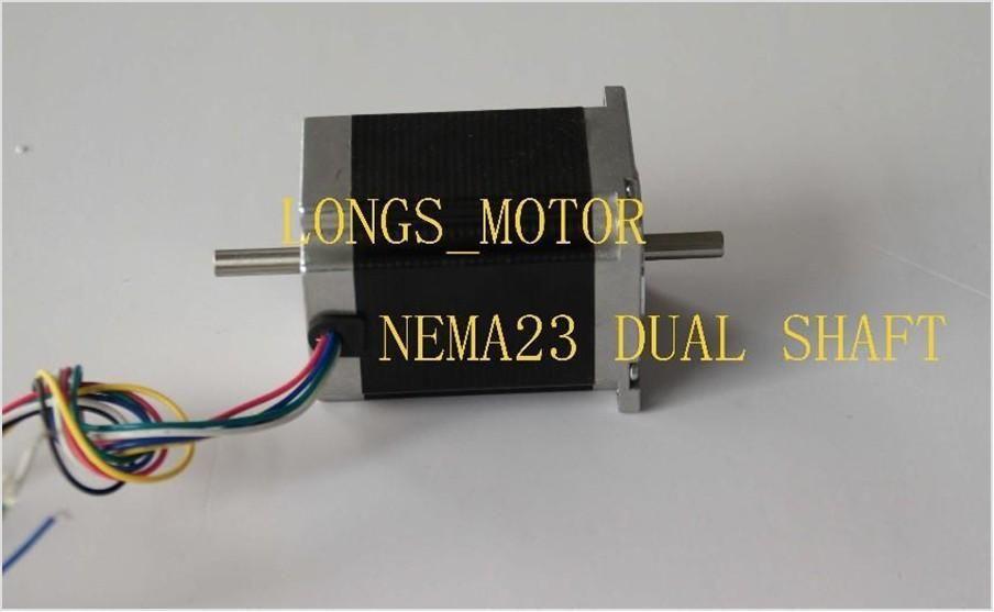 Promotions nema 23 dual shaft stepper motor 425 for Double shaft stepper motor