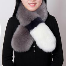 women's Winter faux fox fur scarf lady's long design faux muffler scarf collar winter faux fur pashmina(China (Mainland))